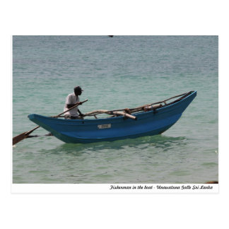 Pescador srilanqués tarjetas postales