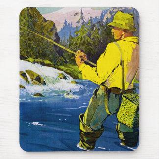 Pescador sueco alfombrilla de ratón