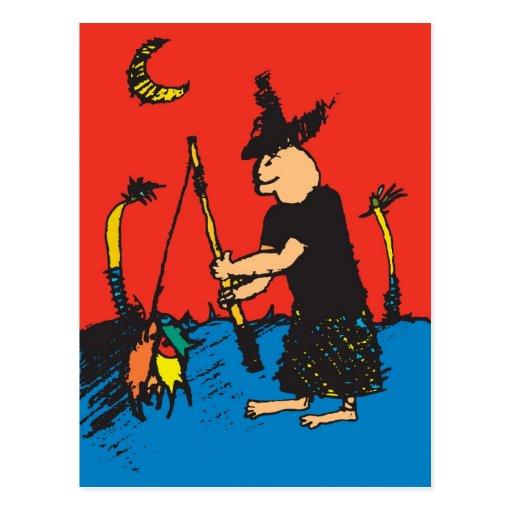 pescador tarjetas postales