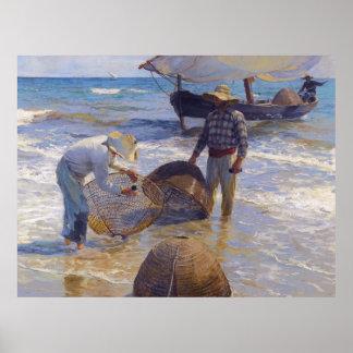 Pescador valenciano - Joaquín Sorolla Póster