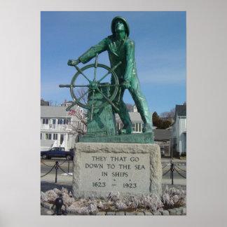 Pescadores de Gloucester conmemorativos Posters
