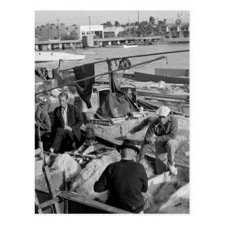 Pescadores de Key West, los años 30 Tarjeta Postal