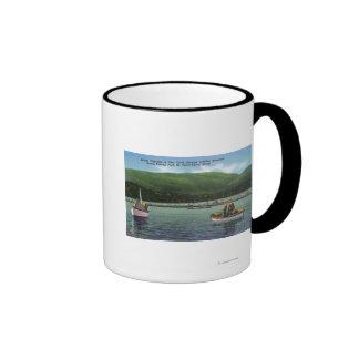 Pescadores de langosta en cala de la nutria difíci taza