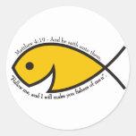 Pescadores del 4:19 de Matthew de hombres Etiqueta Redonda