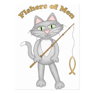 Pescadores del gato postales