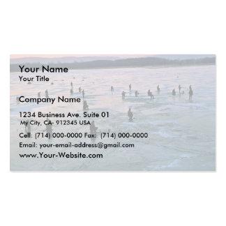 Pescadores del hielo, Stoddard, WI Tarjetas De Visita