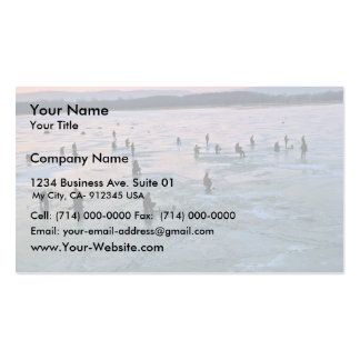 Pescadores del hielo Stoddard WI Tarjeta De Visita