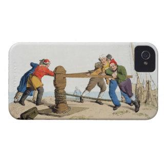 Pescadores en un cabrestante, del 'traje de gran iPhone 4 protectores