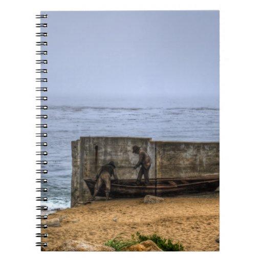 Pescadores murales cuadernos