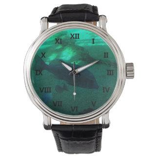 Pescados 1 subacuático relojes de pulsera