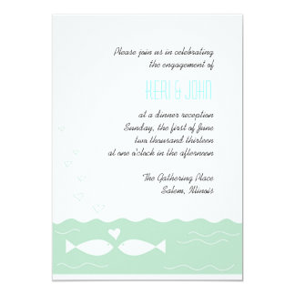 Pescados 2 del amor invitación 12,7 x 17,8 cm