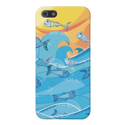 Pescados 4 de las ondas iPhone 5 funda