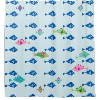 Pescados a pescado a pescado cortina de baño