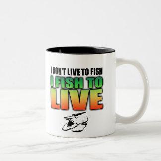 Pescados a vivir taza