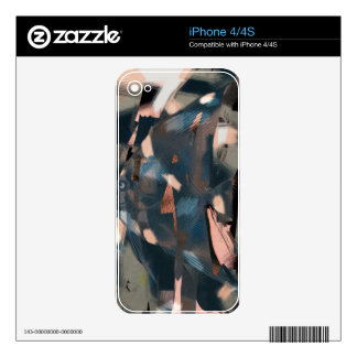 Pescados abstractos con Overbite iPhone 4S Calcomanía