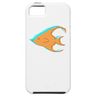Pescados abstractos del ángel iPhone 5 funda