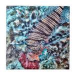 Pescados abstractos del león tejas  ceramicas