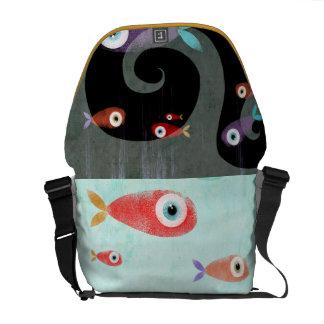 Pescados adaptables de la bolsa de mensajero que p bolsa de mensajería