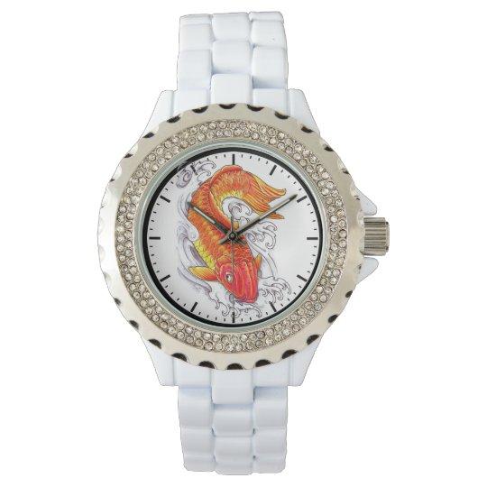 Pescados afortunados del koi de la tinta japonesa relojes de mano