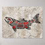 Pescados agrietados del alcohol del Haida Poster