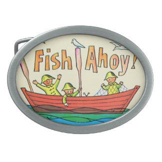 ¡Pescados Ahoy! Hebilla Cinturon