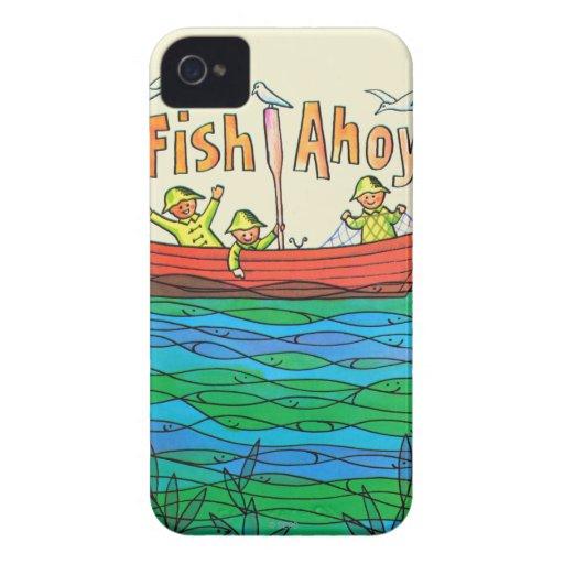¡Pescados Ahoy! iPhone 4 Case-Mate Fundas