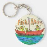 ¡Pescados Ahoy! Llavero Redondo Tipo Pin