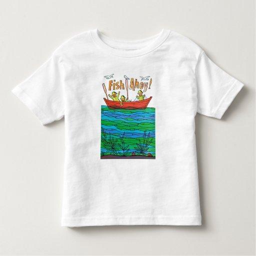 ¡Pescados Ahoy! Playera De Bebé