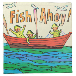 ¡Pescados Ahoy Servilleta