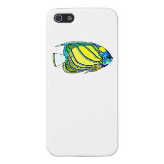 Pescados amarillos del ángel iPhone 5 fundas