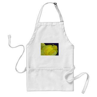 Pescados amarillos del gobio del vigilante delantal