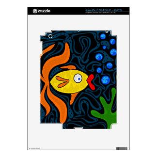 Pescados amarillos iPad 3 pegatinas skins