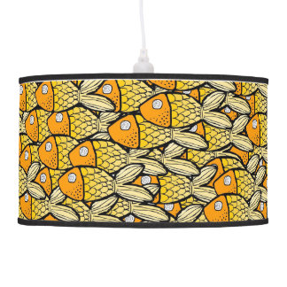 pescados amarillos lámpara de techo