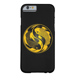 Pescados amarillos y negros de Yin Yang Koi Funda De iPhone 6 Barely There