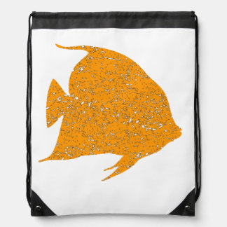 Pescados anaranjados apenados del ángel mochilas
