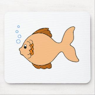 Pescados anaranjados del dibujo animado alfombrillas de raton