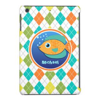 Pescados anaranjados en el modelo colorido de funda para iPad mini retina
