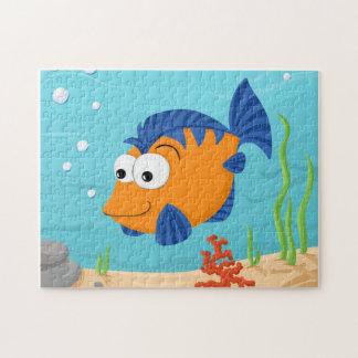 Pescados anaranjados lindos puzzle
