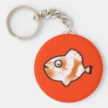 Pescados anaranjados llavero personalizado