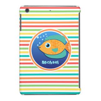 Pescados anaranjados Rayas brillantes del arco Fundas De iPad Mini