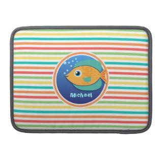 Pescados anaranjados; Rayas brillantes del arco Fundas Para Macbook Pro