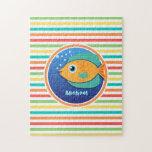 Pescados anaranjados; Rayas brillantes del arco Puzzles