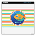 Pescados anaranjados; Rayas brillantes del arco Calcomanías Para MacBook