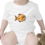 Pescados anaranjados trajes de bebé