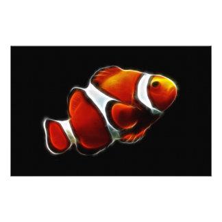 Pescados anaranjados tropicales del payaso de Clow Papeleria