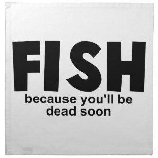 Pescados antes de la muerte servilletas de papel