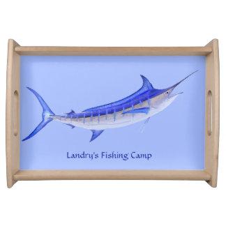 Pescados artísticos personalizados de la aguja bandeja