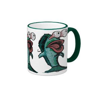 Pescados asustados tazas de café