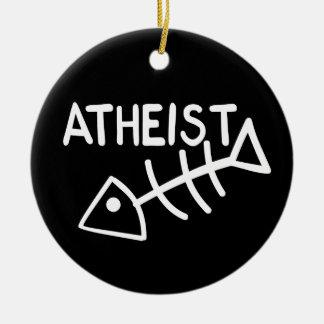 Pescados ateos adorno redondo de cerámica