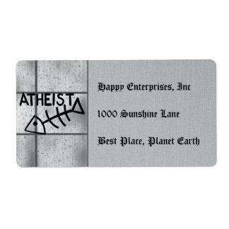Pescados ateos etiquetas de envío